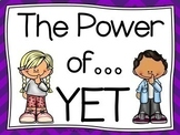 The Power of YET (Growth Mindset Way of Thinking) Poster S