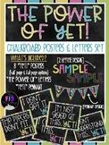 The Power of Yet Chalkboard Posters (Bulletin Board Set)