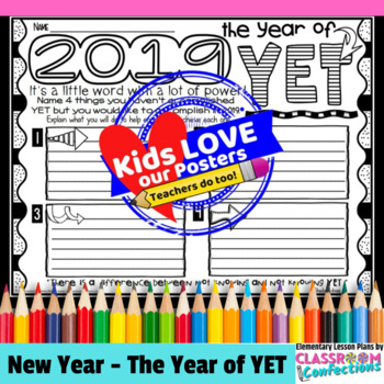 The Power of Yet: A New Year's 2019 Resolution Activity for a Growth Mindset