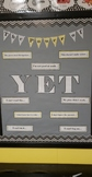 The Power of Yet Bulletin Board - Growth Mindset