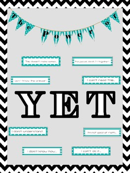 The Power of Yet Bulletin Board - Growth Mindset (Blue)