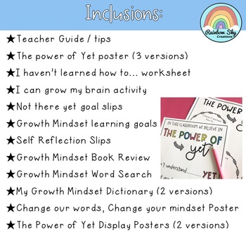 The Power of Yet - Growth Mindset Activities