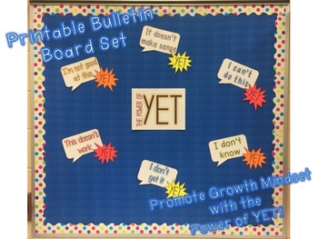 The Power of Yet—Growth Mindset Printable Bulletin Board Set