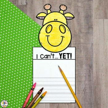 The Power of Yet Writing Craft (Growth Mindset Activity)