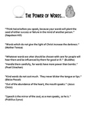 The Power of Your Words- Teaching Packet