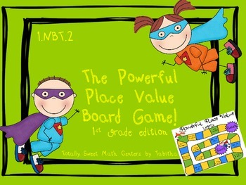 The Powerful Place Value Board Game! Gr. 1 Edition 1.NBT.2