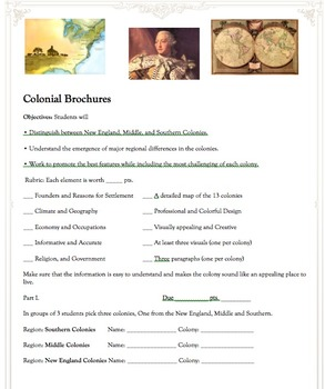 The Practically Perfect American Colonies Brochure Project