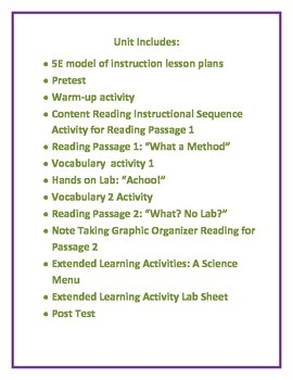 The Practice of Science Unit and Lesson Plans