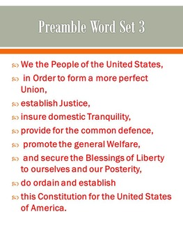 The Preamble--A Very Important Introduction