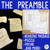 The Preamble {Puzzle, Reading Passage, & Vocabulary}