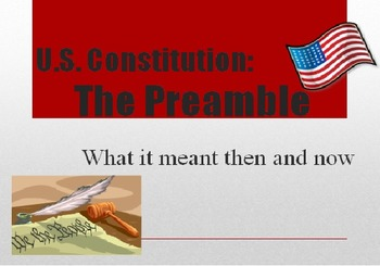 The Preamble: What it meant then and now