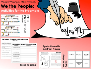 The Preamble to the Constitution: Close Reading and Vocabulary Activity