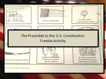 The Preamble to the U.S. Constitution Activity: Freebie