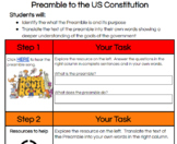 The Preamble to the US Constitution- DISTANCE LEARNING!