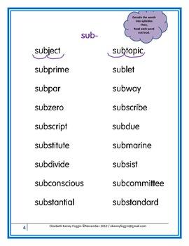 "Prefix ""sub-"" A Multisensory Approach"
