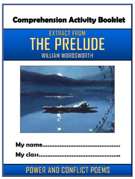 The Prelude (Extract) - William Wordsworth - Comprehension Activities Booklet!