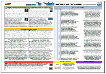 The Prelude (extract) Knowledge Organizer/ Revision Mat!