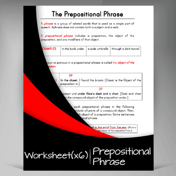 Prepositional Phrases ❘ 7th Grade Grammar and Assessment Pack