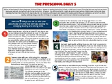 The Preschool Daily 5 - Home Connection Flyer for Emergent