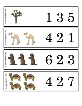 Desert Clip & Count Cards