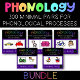 Speech Therapy:  Phonological Processes 300 Minimal Pairs