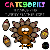 The Preschool SLP: Thanksgiving Turkey Category Sort and Vocabulary Worksheets