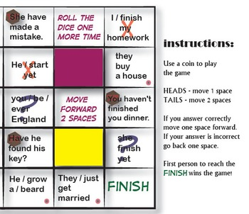 The Present Perfect Board Game