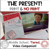 #distancelearning The Present Short Film Social Skills Activities MS HS No Print