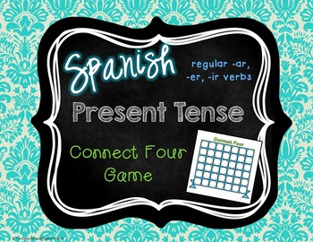 The Present Tense Spanish Connect Four Game