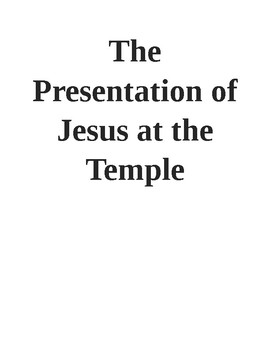 Jesus In The Temple Teaching Resources | Teachers Pay Teachers