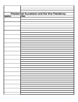 The Presidency Cornell Notes