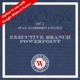AP US Government and Politics Executive Branch PowerPoint
