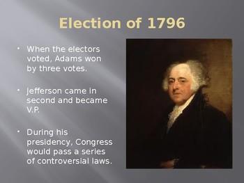 The Presidency of John Adams PowerPoint