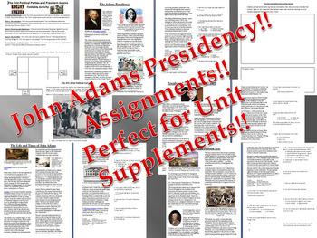 The Presidency of John Adams Bundle