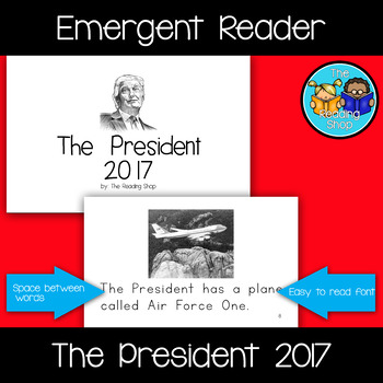 The President 2017 Emergent Reader - Donald Trump - Little Book