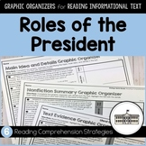Roles of the President ~ Graphic Organizers for Reading Informational Text
