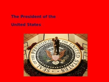 The President of the United States PowerPoint