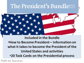 The President's Bundle! Information, Activities and Task Cards!