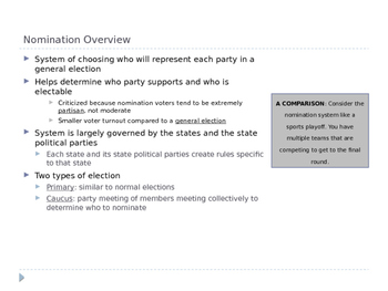 The Presidential Nomination System: An Overview