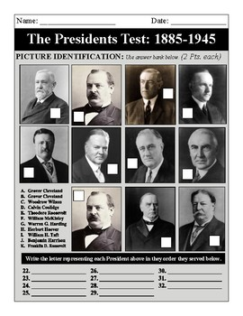The Presidents: 1885-1945 Test