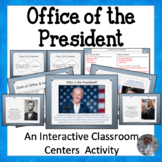 The Presidents Centers or Small Group Activity - Great for President's Day!