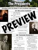 Presidents Worksheet Part 3