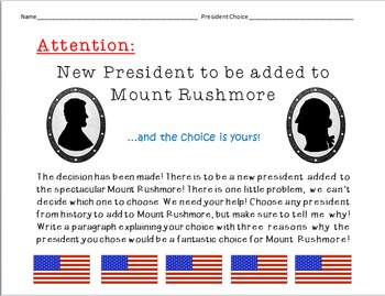 The Presidents on Mount Rushmore Unit Plan