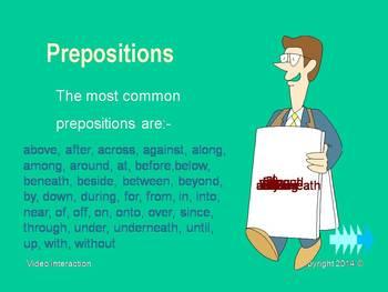 The Preposition - the grammar series