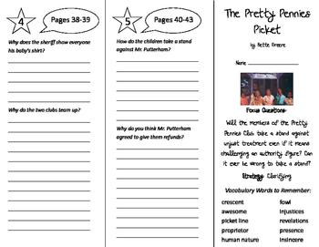 The Pretty Pennies Picket Trifold - Imagine It 6th Grade Unit 1 Week 1