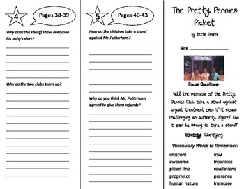 The Pretty Pennies Picket Trifold - Imagine It 6th Grade U