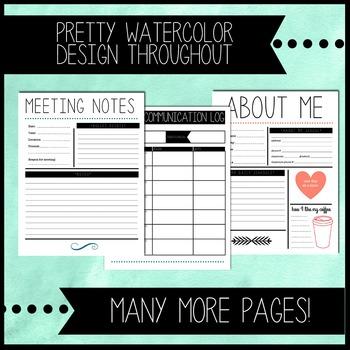 The Pretty Planner: Printable Teacher Binder