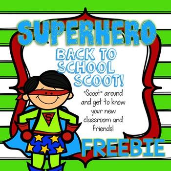 Back to School Superhero Scoot!  FREEBIE!