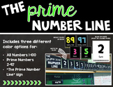 The Prime Number Line (Bright Colors or Black and White)