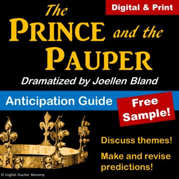 The Prince and the Pauper Anticipation Guide